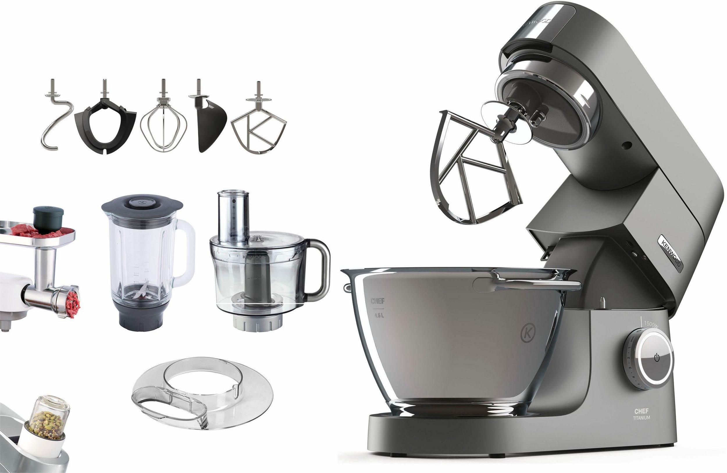 Kenwood Küchenmaschinen (Chef Titanium + Chef Titanium XL) mit viel Zubehör inkl. Kenwood Bonusprogramm