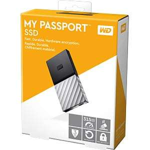 WD My Passport SSD, Mobile 512 GB-Festplatte