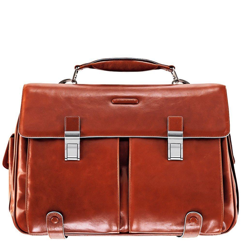 [Amazon IT] Piquadro Blue Square Aktentasche mit Laptopfach und Vortaschen in lederfarben zum BESTPREIS