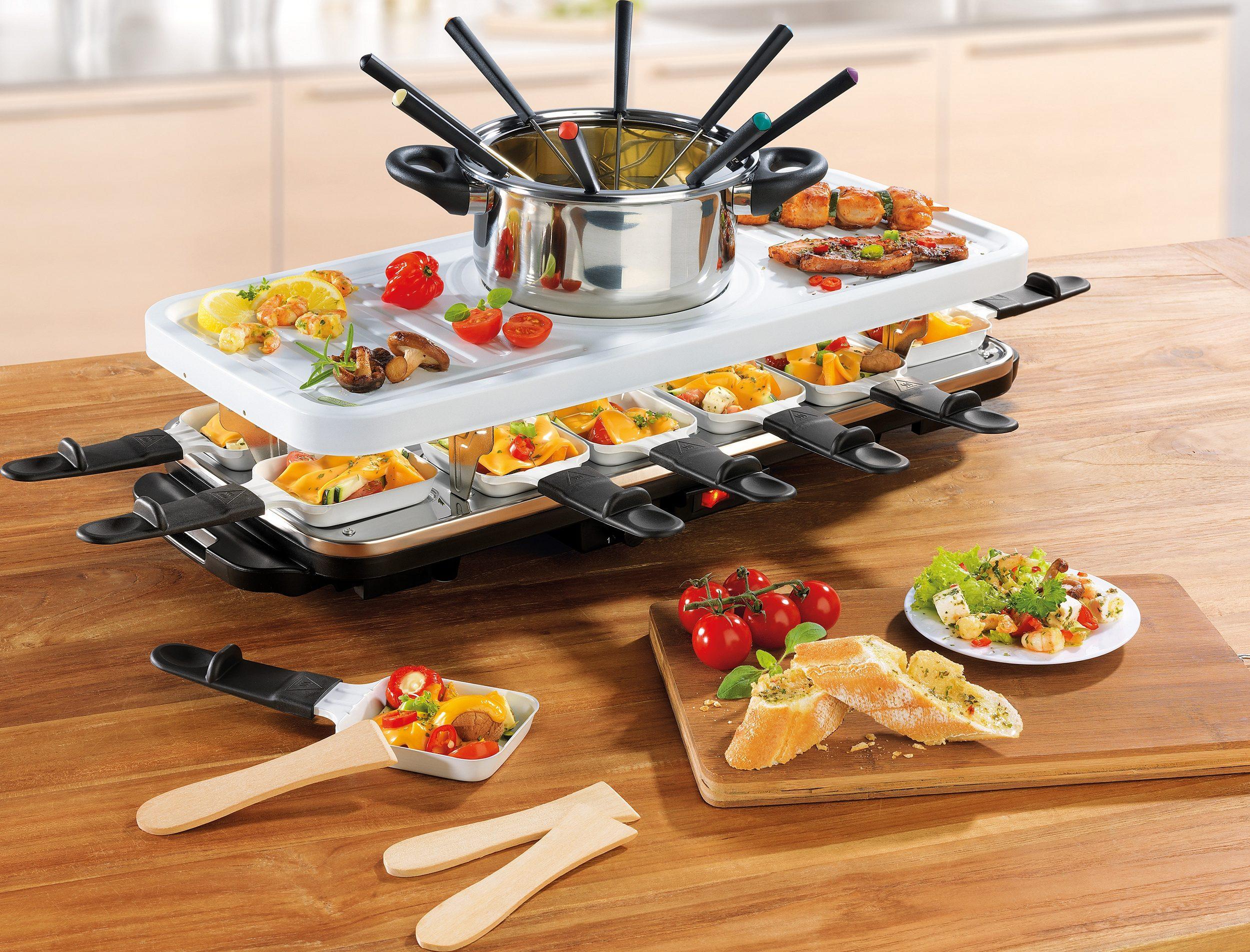 GOURMETmaxx Raclette und Fondue-Set Raclette- und Fondue Set