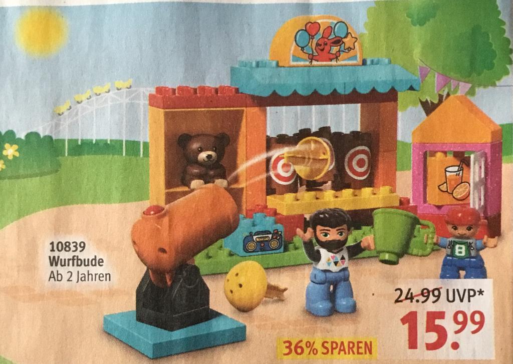 [Rossmann lokal] LEGO Prospekt z.B. Lego Tracked Racer 54 oder Lego Duplo Wurfbude 14,39