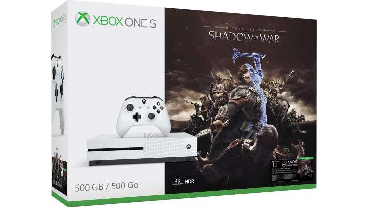 Xbox One S 500GB Konsole – Schatten des Krieges-Bundle