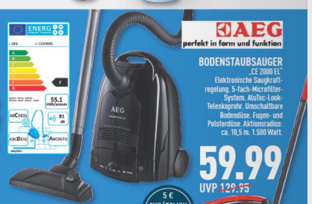 [Marktkauf Deutschland] AEG Bodenstaubsauger  Vampyr® CE2000 EL (Lokal/Offline)