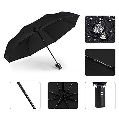 [Amazon PRIME] 2x Leichter, Kompakter Automatischer Regenschirm, Sturmfest bis 140 km/h