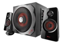 Trust GXT 38 2.1 Lautsprechersystem mit Subwoofer schwarz/rot für 33,50 € Expert Technomarkt.de
