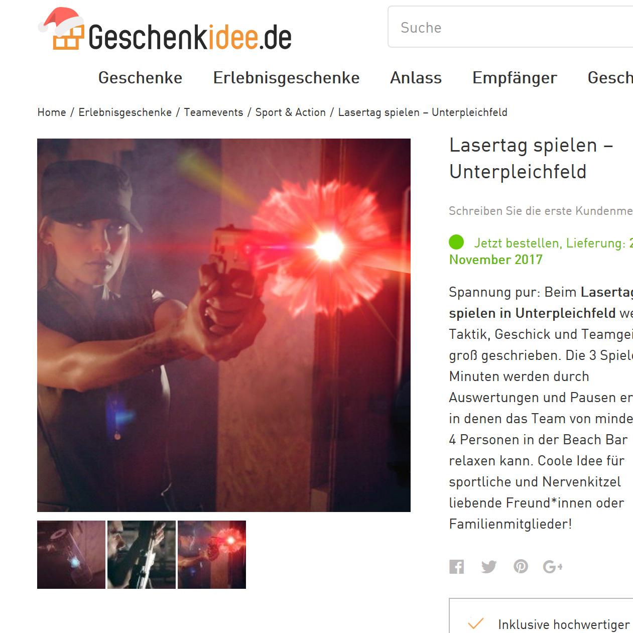 [Lokal Würzburg - Gutscheinfehler] Lasertag für 4 Personen mit 3x20 Minuten Spielzeit (eventuell auch für 11 Euro möglich)