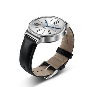 [Gebraucht - Wie Neu] Huawei Watch silber mit schwarzem Lederarmband