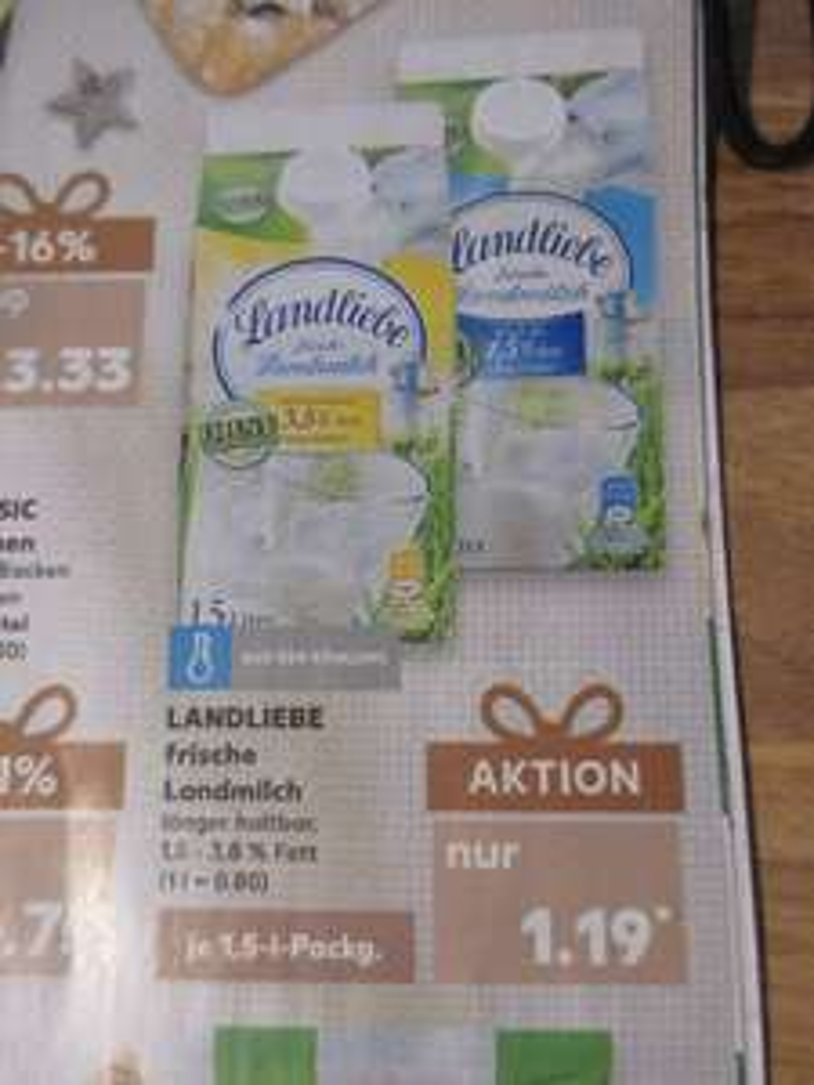 Kaufland - Landliebe Coupon / Frisch Milch 1,5 Liter für 1,03 / Liter für 0,68 Euro