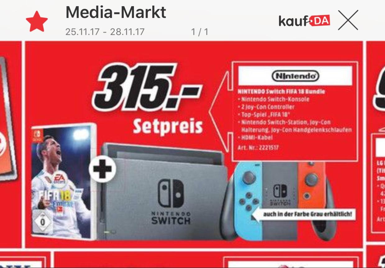 Nintendo Switch+ FIFA 18 ( Lokal MM Köln Kalk)