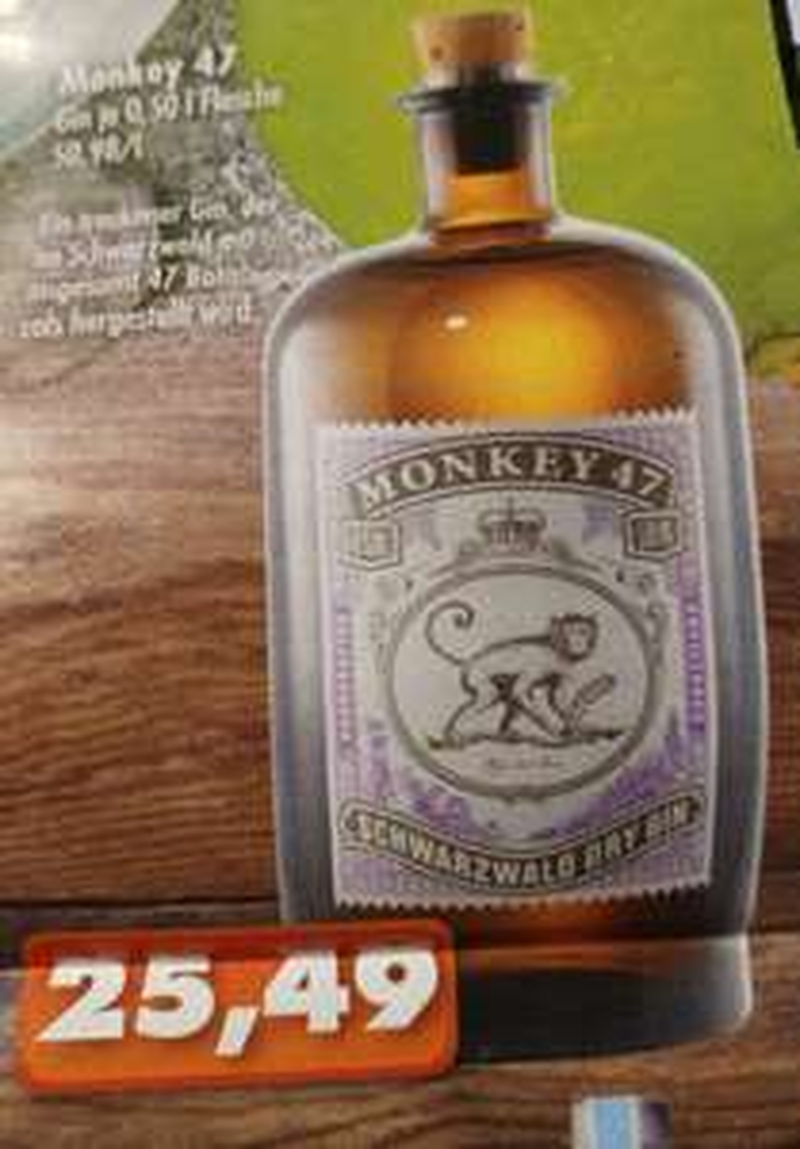 [Lokal Vollgut-Märkte Plz 3xxxx] Monkey 47 Gin für 25,49