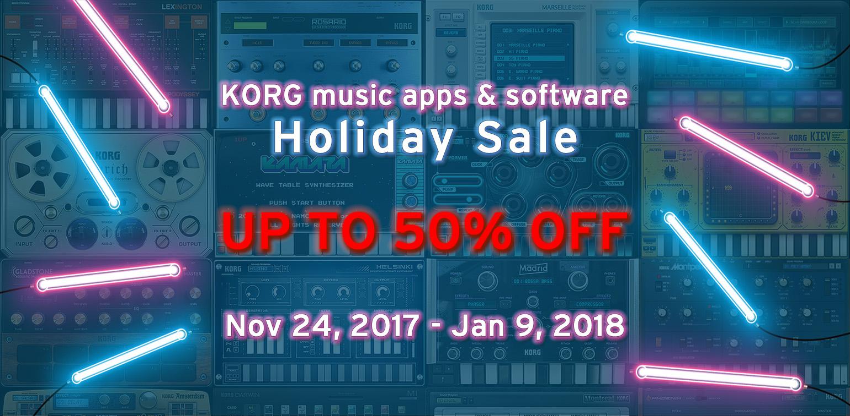 KORG Holiday Sale - Bis zu 50% Rabatt auf Musik-Apps und -Software z. B. KORG Gadget for Mac für 149 $