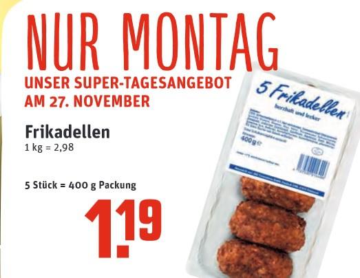 [Rewe Dortmund / Ruhrgebiet] Montag 27. November: 5 Frikadellen für 1,19€