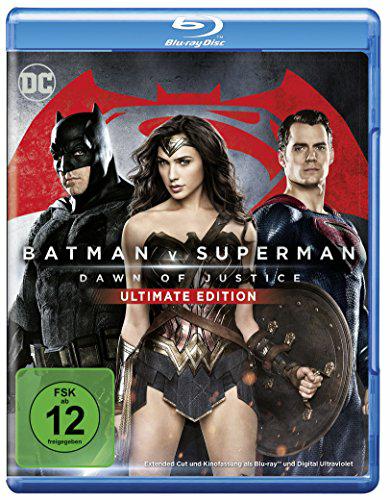 Amazon: Batman vs Superman: Dawn of Justice – Ultimate Edition Bluray für 5,91€