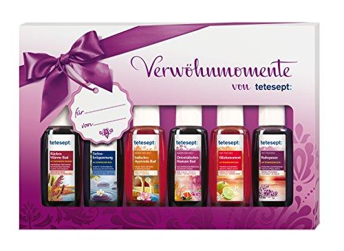Tetesept Bäder Geschenkset Verwöhnmomente, 1er Pack (6 x 20 ml) für nur 4,94€ bei Amazon !
