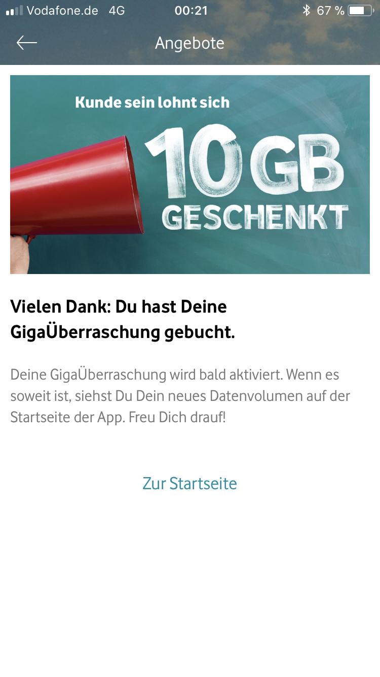 10 GB pro Monat zusätzlich bei Vodafone!
