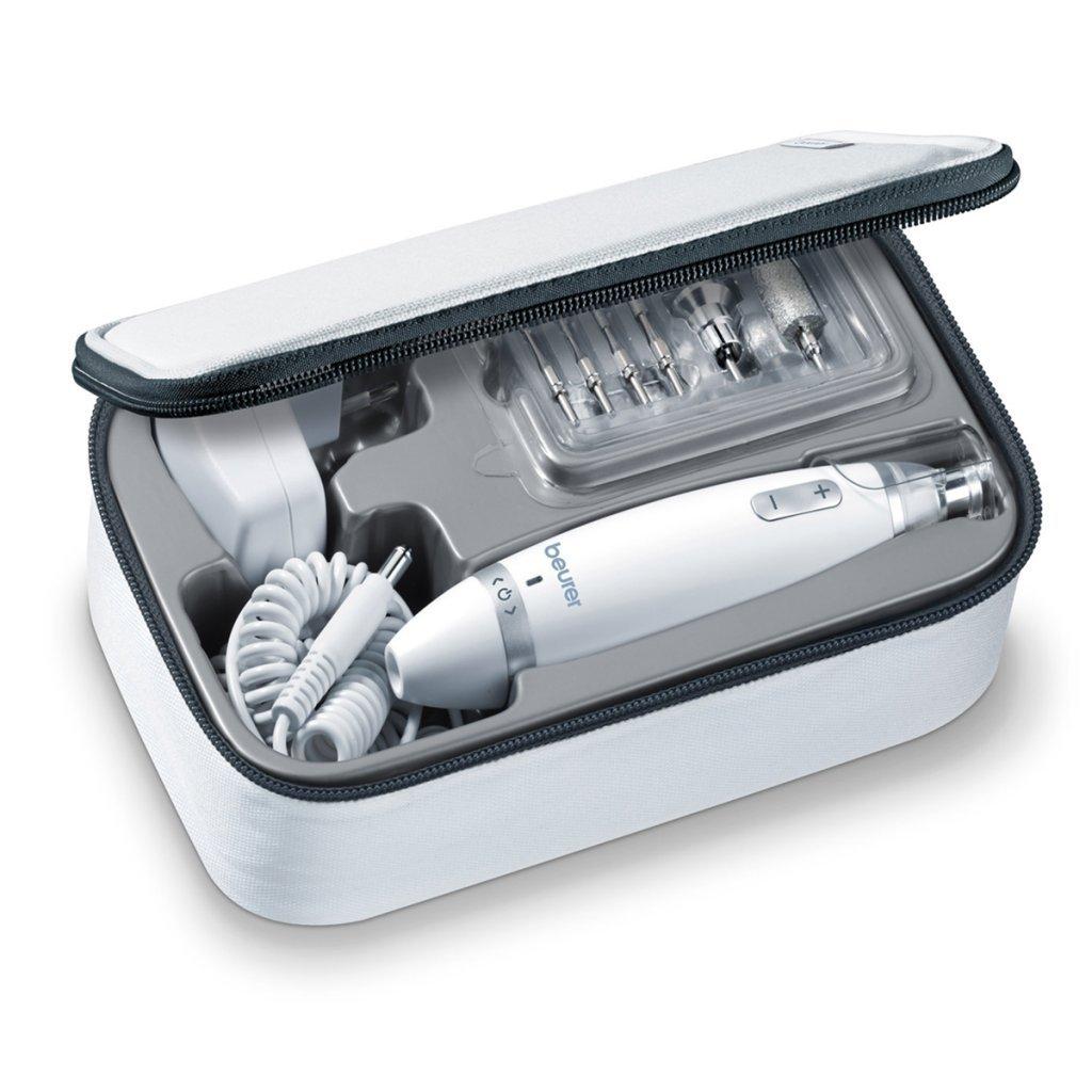 Beurer MP 62 elektrisches Maniküre-/ Pediküre-Set, mit 10 Aufsätzen, hellem LED Licht, inkl. Aufbewahrungstasche