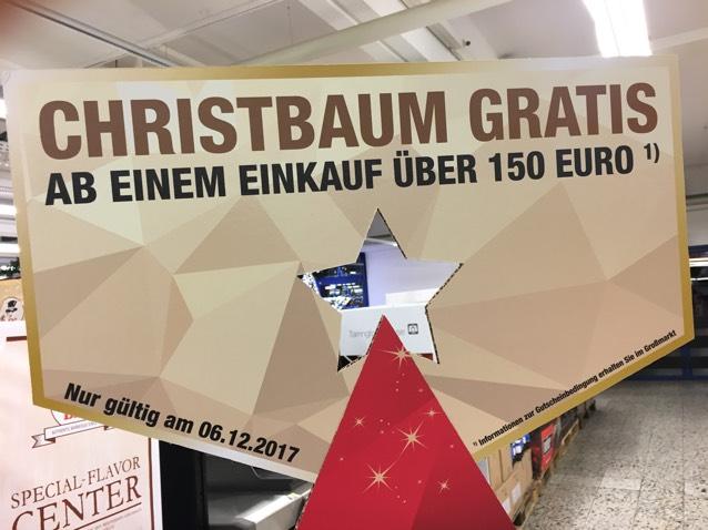 Metro Weihnachtsbaum ab 150€ Einkaufswert gratis am 06.12