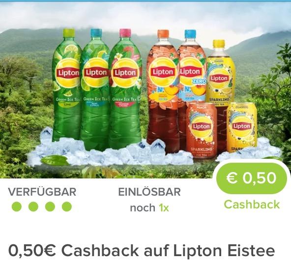 Marktguru: 0,50€ Cashback auf Lipton Eistee