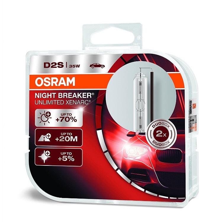 OSRAM Xenarc Night Breaker Unlimited D2S, HID Xenon [Amazon]
