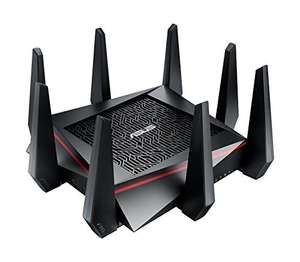 ASUS RT-AC5300 - Pro-Gamer WLAN Router (Ping Beschleuniger, Link Aggregation, 1.4 GHz Dual-Core CPU, App Steuerung, AiProtection by Trendmirco, Wave2 Mu-Mimo, Multifunktion-USB 3.0