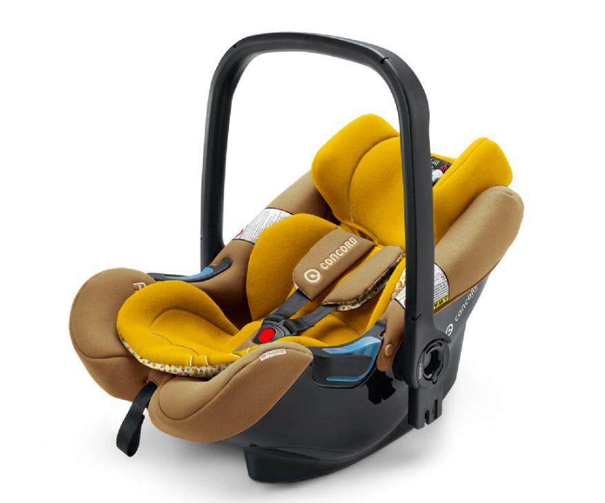 Babyschale Concord Air.Safe in curry gelb - superleicht mit 2,9kg