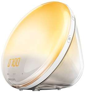 [amazon.es] Philips HF3531/01 Wake-Up Light (Sonnenaufgangfunktion, Nachtlichtfunktion, Touchdisplay, 7 Wecktöne, digitales FM Radio, Tageslichtwecker, 300 Lux)