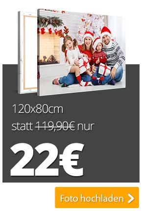 XXL-Fotoleinwände zum Cyber Monday z.B. 120x80cm für  22 + 6,90 € Versand [meinXXL]