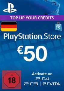 [Gameladen] PSN Playstation Network Card 50 € für 41,99 €