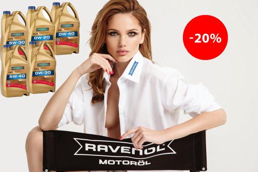 Ravenol Motoröl 4+1 Aktion -20% Rabatt