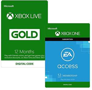 12 Monate Xbox Live Gold + 12 Monate EA Access für 51€ (Amazon.co.uk)
