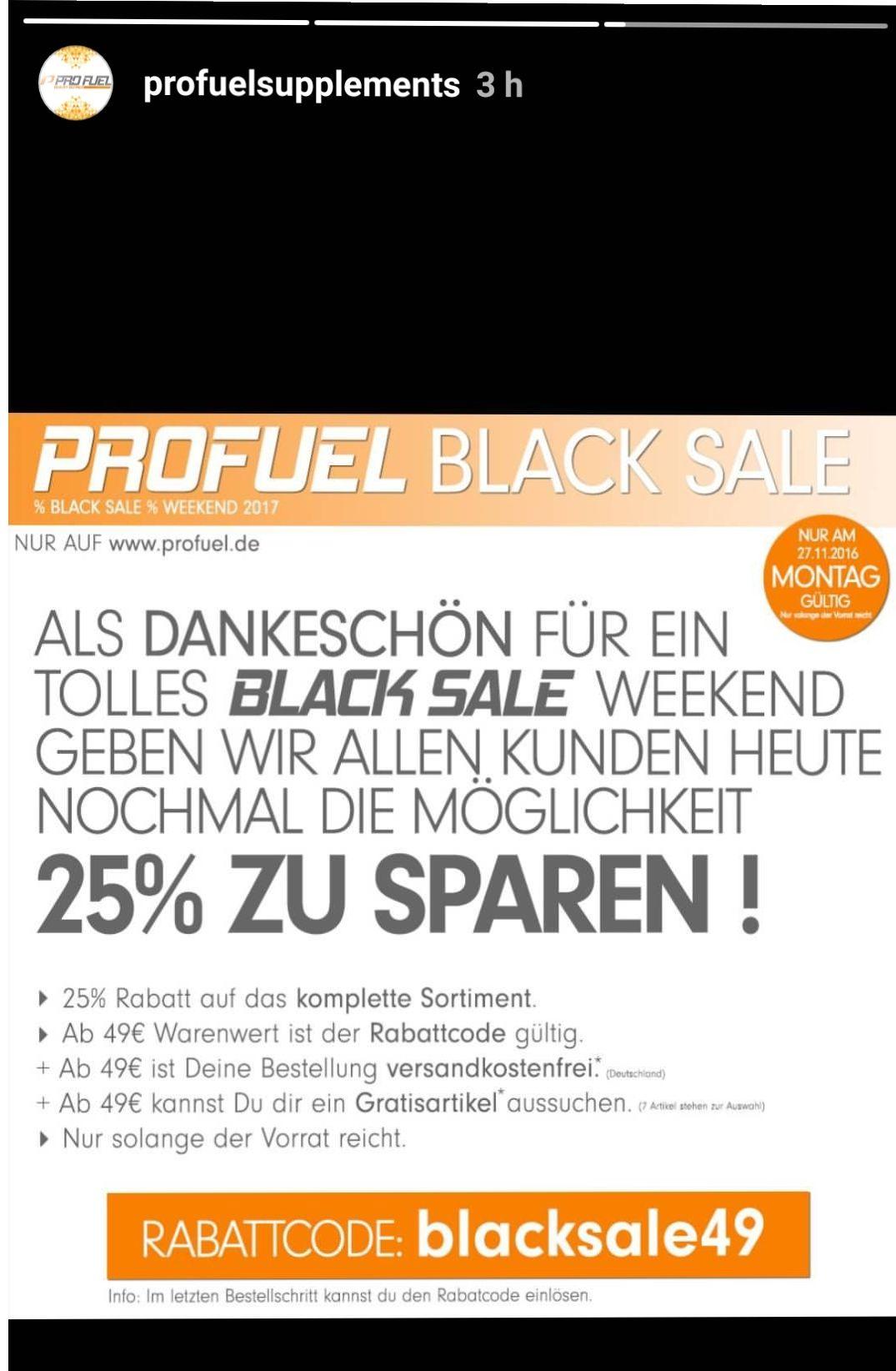 25% auf alle profuel Produkte ab 49€