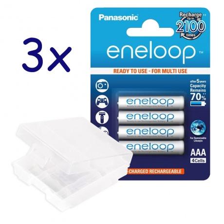 12 eneloop AAA neuste Version für 10,99€ mit 3 Boxen für 11,99€ bei [Rakuten Paydirekt]
