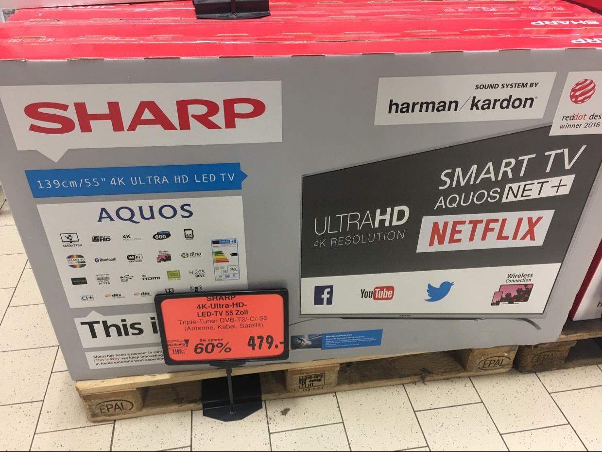 Sharp 55CUF8472ES 4K UHD Fernseher -  Kaufland