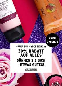 THE BODY SHOP: 30% Rabatt auf *fast* alles (Cyber Monday)