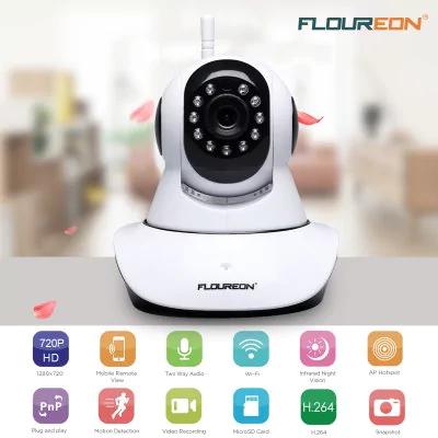 FLOUREON 720P Wireless ONVIF CCTV Security IP WLAN Camera für  8,80€ @ Gearbest