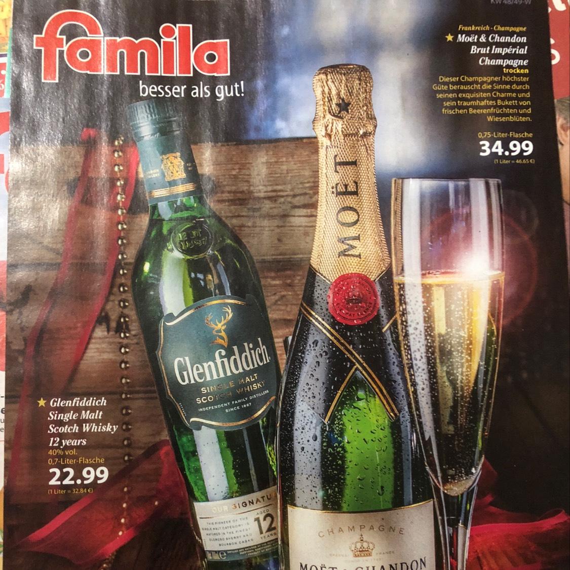 Glenfiddich Single Malt Scotch Whisky 12 Jahre bei Famila Lauenburg vielleicht auch bundesweit?