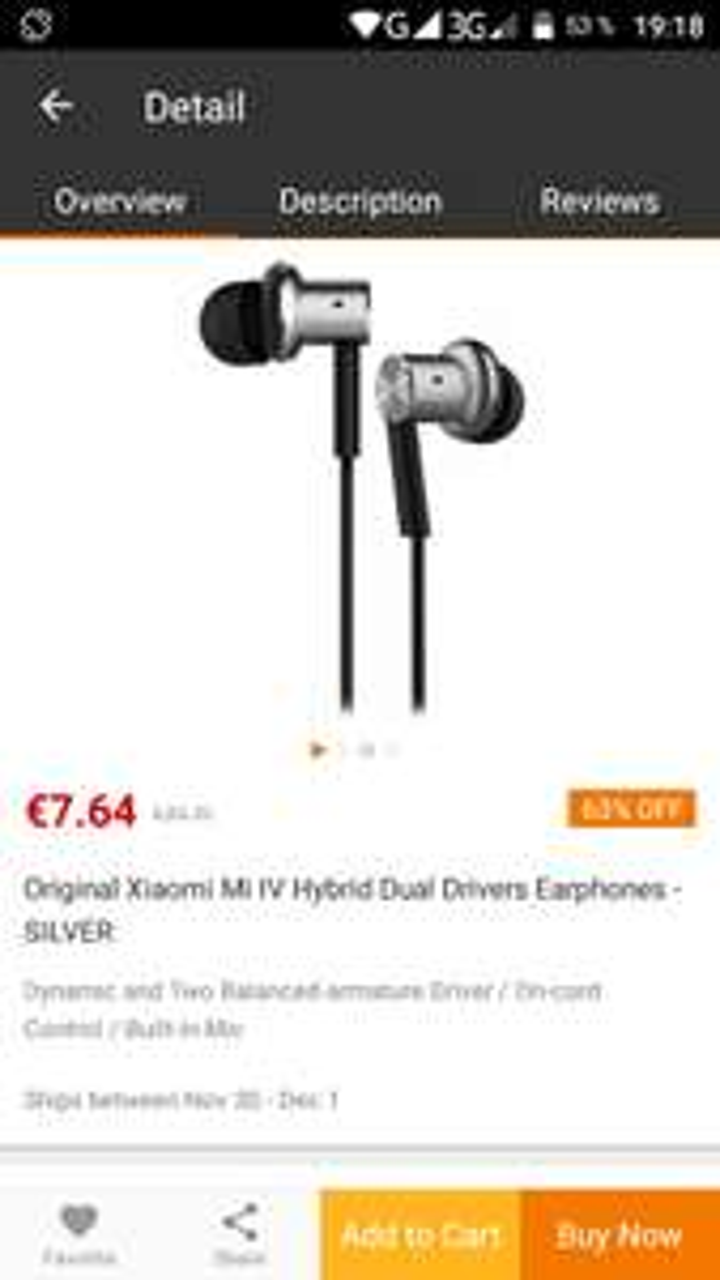 Original Xiaomi in-ear hybrid Kopfhörer EU-3 Lager
