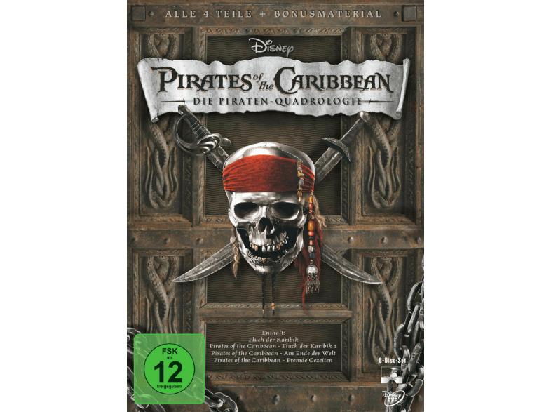 Pirates of the Caribbean - Die Piraten Quadrologie (5x Blu-rays) für 12,99€ versandkostenfrei (Saturn)
