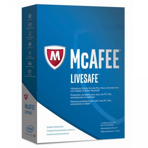 McAfee LiveSafe Lizenz für 4,99€ bei ONE
