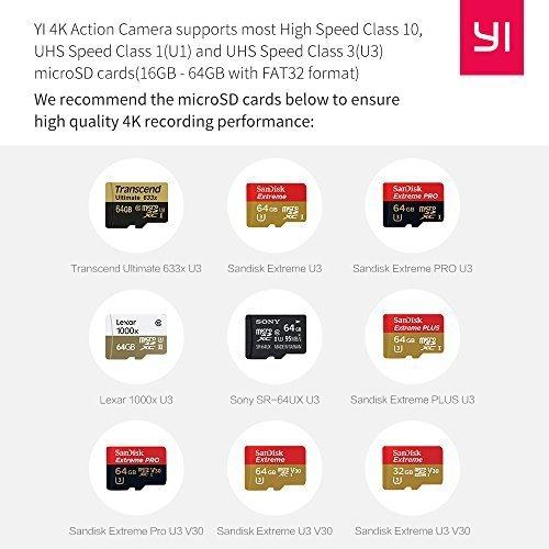YI 4K Action-Kamera mit 3-Achsen Gimbal, Selfie Stick, Bluetooth Remote und Tasche