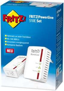 [Amazon] AVM FRITZ!Powerline 510E Set (500 Mbit/s, Fast-Ethernet-LAN) deutschsprachige Version