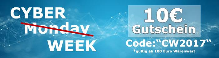 CyberWeek bei Delwi  10€ Gutschein MBW 100, refurbished/gebrauchte Hardware