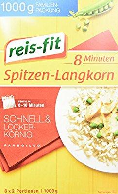 reis-fit 8 Minuten Spitzen-Langkorn Reis im Kochbeutel, 14er Pack (14 x 1 kg) spar abo schnell sein