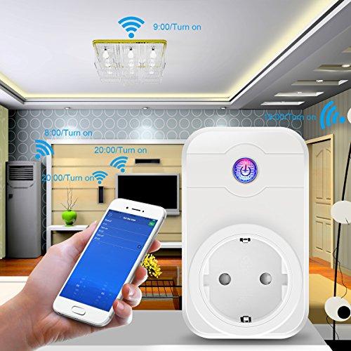 Wifi Steckdose Elegiant Google Home, Alexa kompatibel, auch mit iOS und Android steuerbar, Amazon Blitzangebot [Prime]