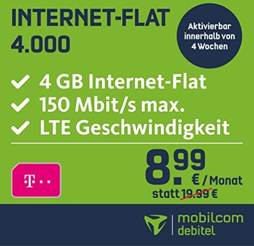 Telekom: 4GB 150 Mbit/s LTE ohne Telefonie