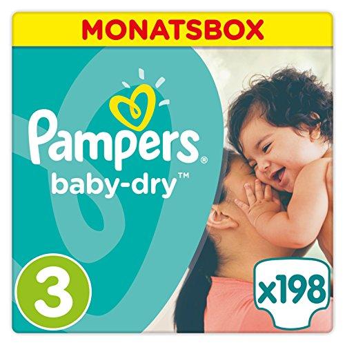 [Amazon Prime] Pampers Baby Dry im Sparabo - Je Größe 0,08 - 0,13 € je Stück
