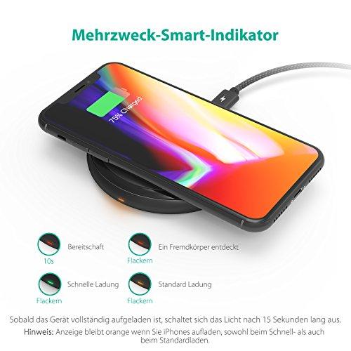 [Amazon.de] RAVPower Qi Ladegerät mit Quickcharge für iPhone X