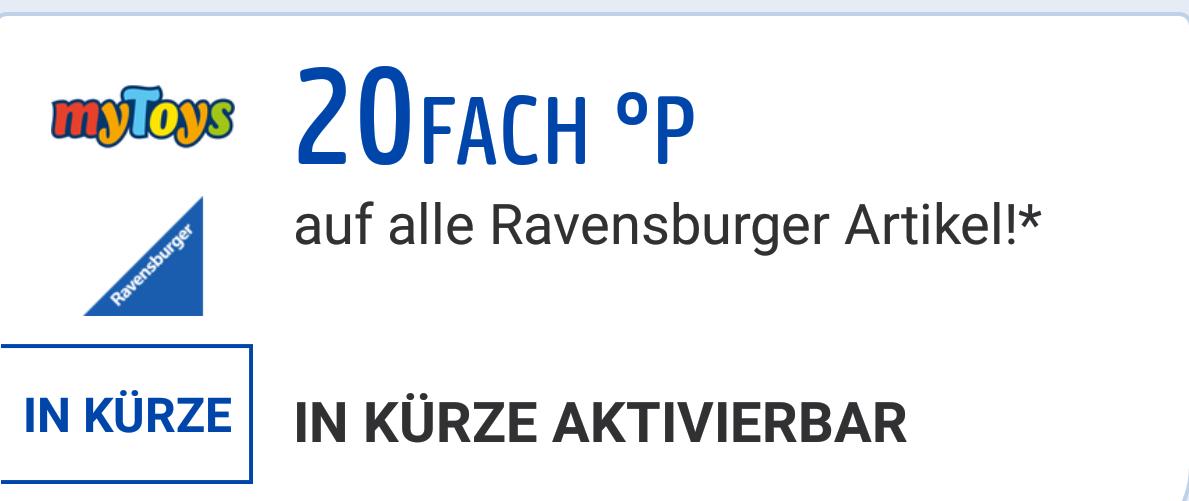 [MyToys] 20-fach Payback Punkte auf Ravensburger Produkte