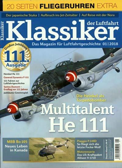 Klassiker der Luftfahrt Magazin für 1 Jahr (8 Ausgaben) für 47,20€ mit 40€ Amazon- oder Tankgutschein