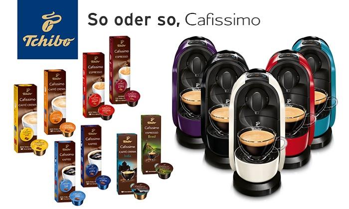 [Tchibo] Cafissimo PURE Kapselmaschine in 5 Farben + 80 Kapseln